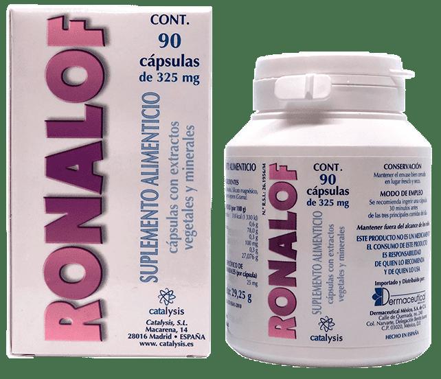 Ronalof presentaciones de 30 y 90 cápsulas